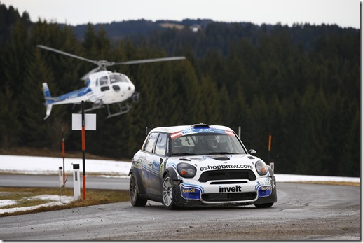 MOTORSPORT - EUROPEAN RALLY CHAMPIONSHIP 2014 - JANNER RALLY  (AUT) - 3 TO 5/01/2014 - PHOTO : FRANCOIS BAUDIN / DPPI -  05 PECH VACLAV (CZE) / UHEL PETR - EURO OIL INVELT TEAM - MINI JOHN COOPER 2000 - ACTION