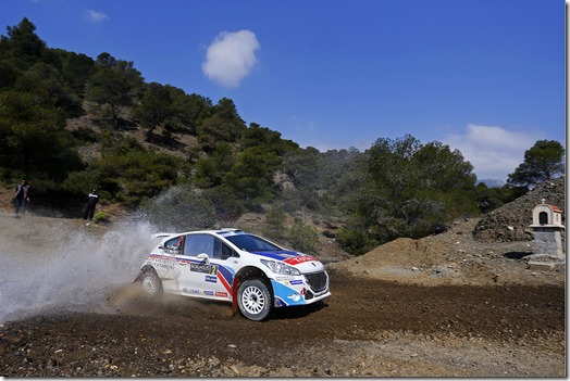 MOTORSPORT - EUROPEAN RALLY CHAMPIONSHIP 2014 - ACROPOLE RALLY OF GRECE - LOUTRAKI (GRE) 28/03 TO 30/03/2014 - PHOTO : GREGORY LENORMAND / DPPI -  02 BREEN CRAIG / MARTIN SCOTT  - PEUGEOT 208 T16 R5 - ACTION
